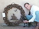 Peter and Malika with our 2008 Festival of Wreaths submission